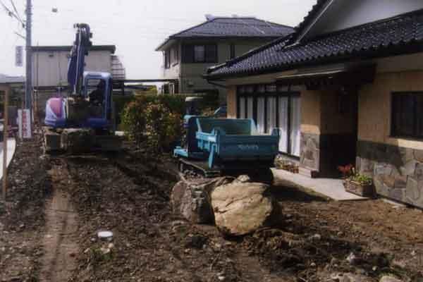和風庭園施工前の写真